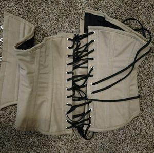 Cotton steel boned corset